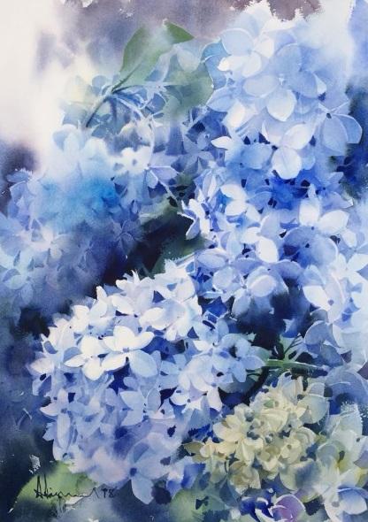 Adisorn Pornsirikarn - Blue flowers