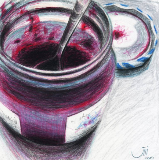 Sedigheh Zoghi - Daily Life No.97, Blueberry Jam