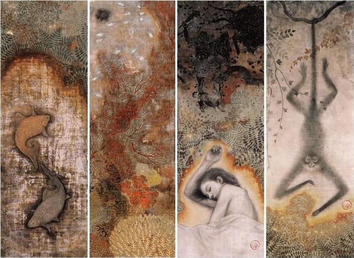 Toshiyuki Enoki - Old Pond, Coral Reef, Sumber, Spider Monkey
