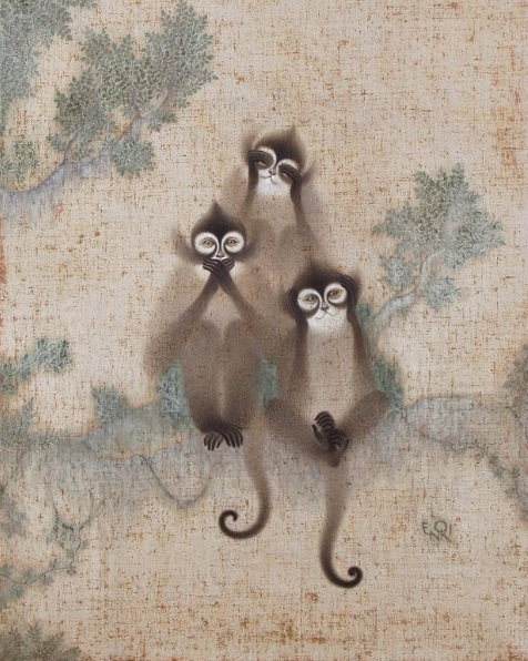 Toshiyuki Enoki - Three monkeys