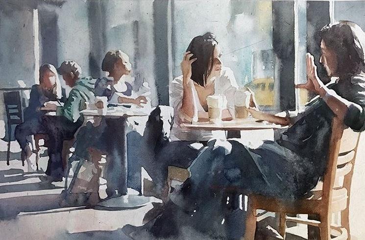 Marcos Beccari - Sábado watercolor