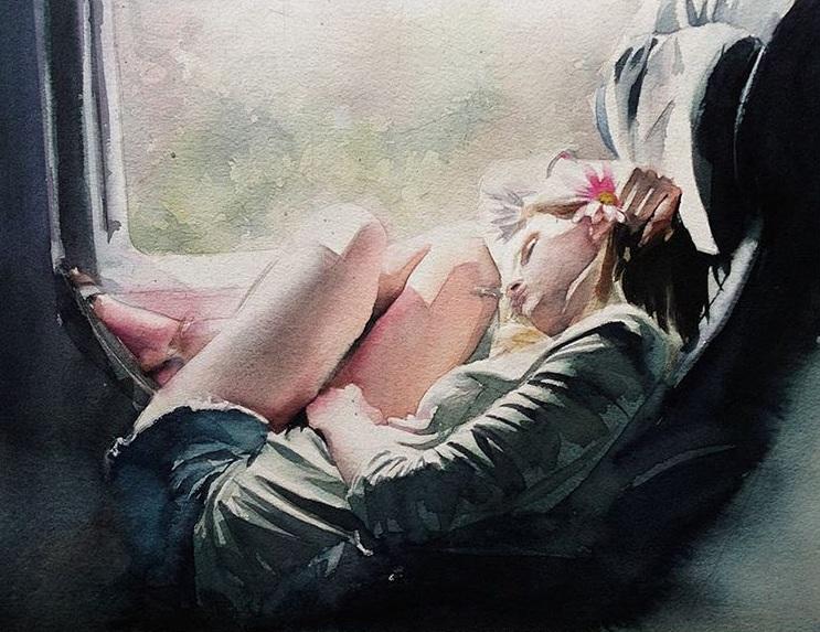 Marcos Beccari - Segunda-feira watercolor ART
