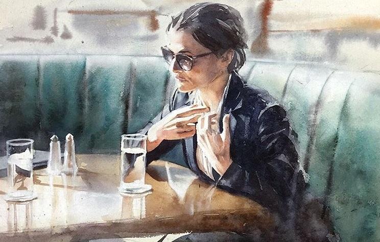 Marcos Beccari - Segunda-feira watercolor