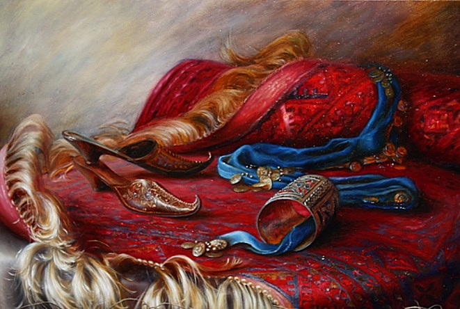 Svetlana Sintseva - Oriental still life with slippers