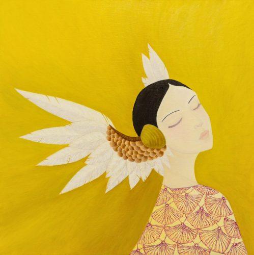 Yuliia Ustymenko - Listen To Your Heart. Oil painting