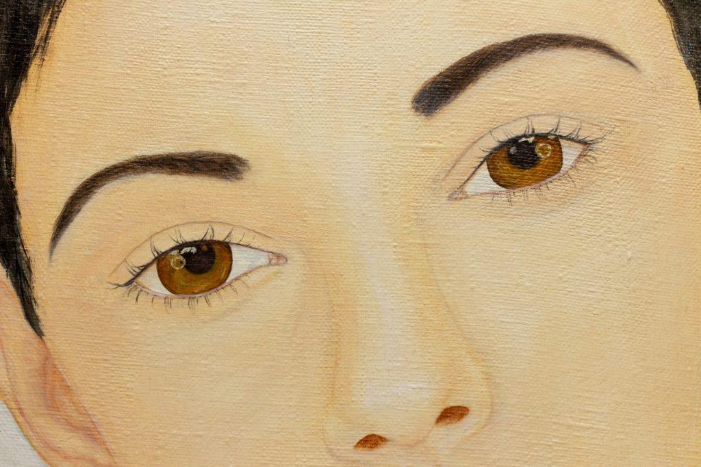 Yuliia-Ustymenko-Pearl-Female-oil-portrait-detail