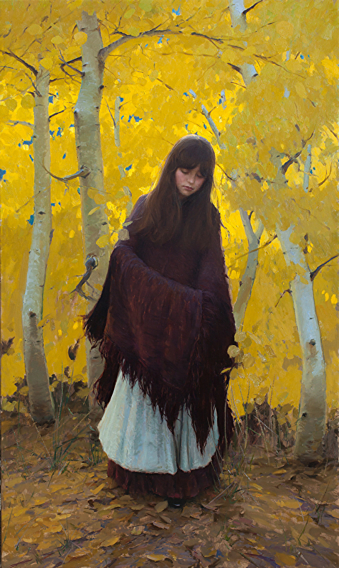 Jeremy Lipking - Fall Aspens