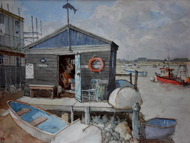 Paul Banning - The Harbour Masters hut at Fellixstowe foot ferry
