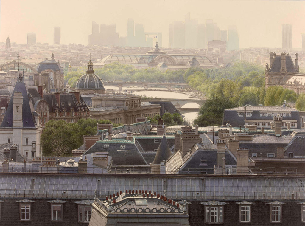 Thierry Duval - Atmospheric perspective on the Grand Palais and the roofs of Paris