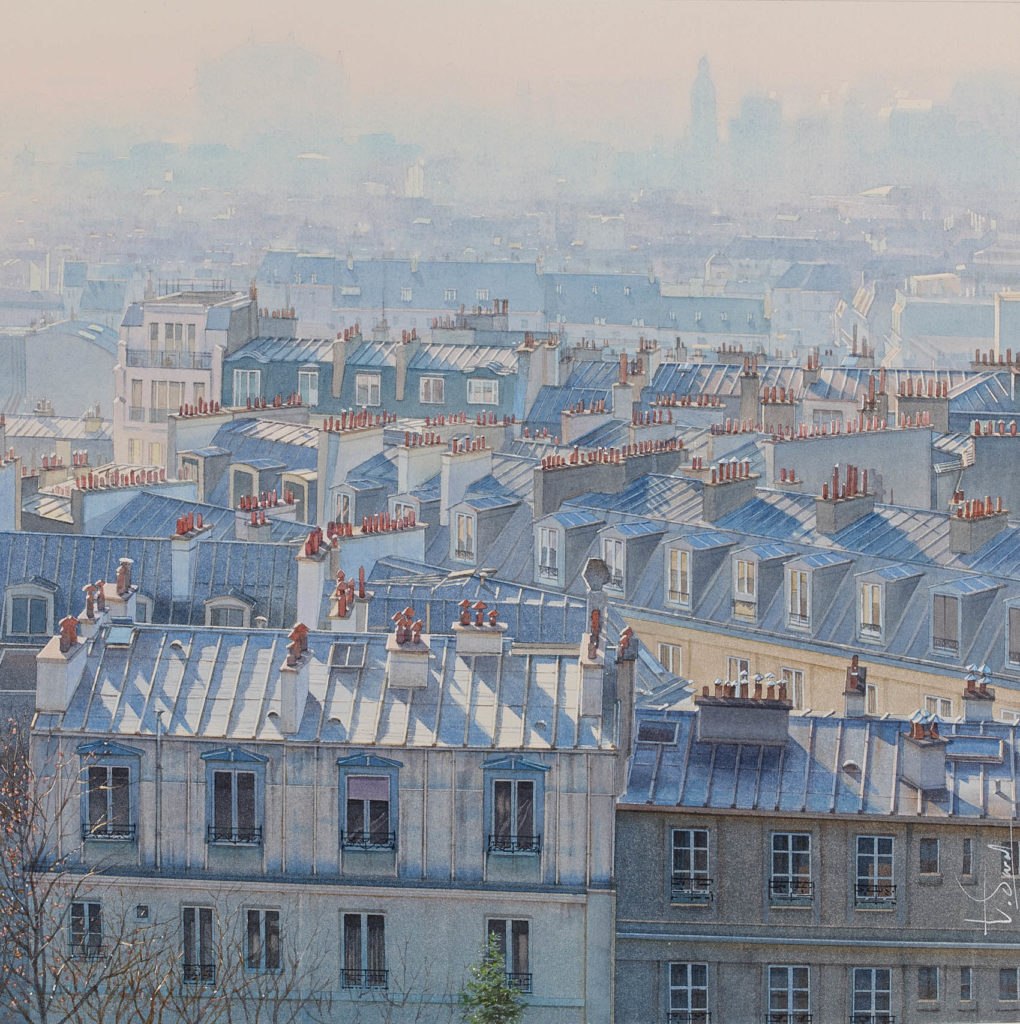 Thierry Duval - Atmospheric perspective over the roofs of Paris