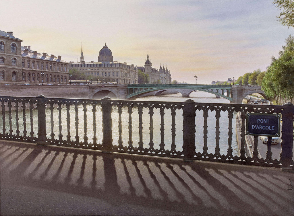 Thierry Duval - Backlight on the bridge of Arcole