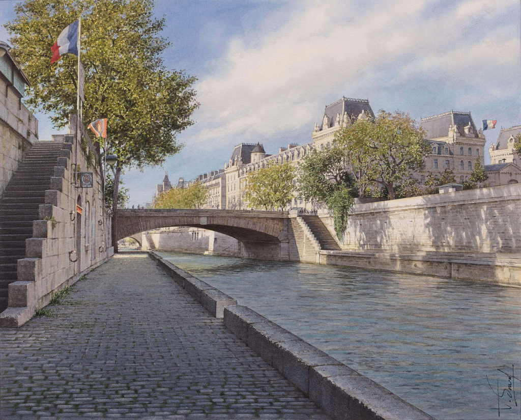 Thierry Duval - The Little bridge and the Quai des Orfèvres