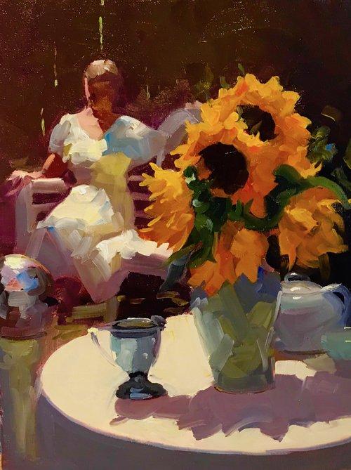 Dennis Perrin - Aimee with Sunflowers
