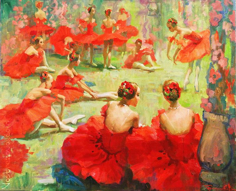 Anastasia Vostrezova - Girls in the Poppy Flower Costumes