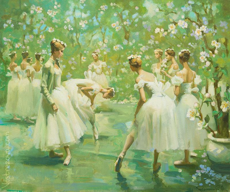 Anastasia Vostrezova - In a Blooming Garden
