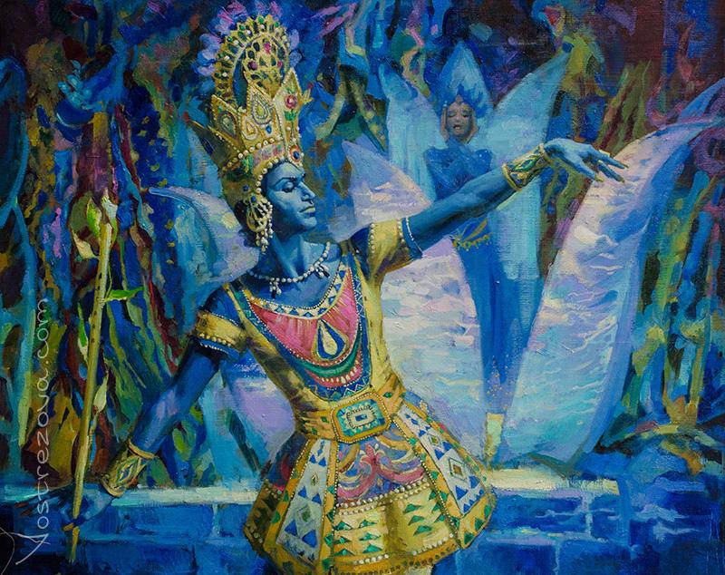 Anastasia Vostrezova - 'The Blue God' Ballet. N. M. Tsiskaridze