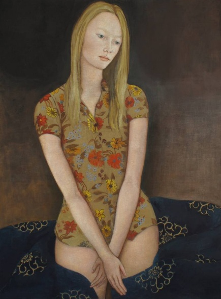 June Sira - A Girl With Flowers On Her Dress