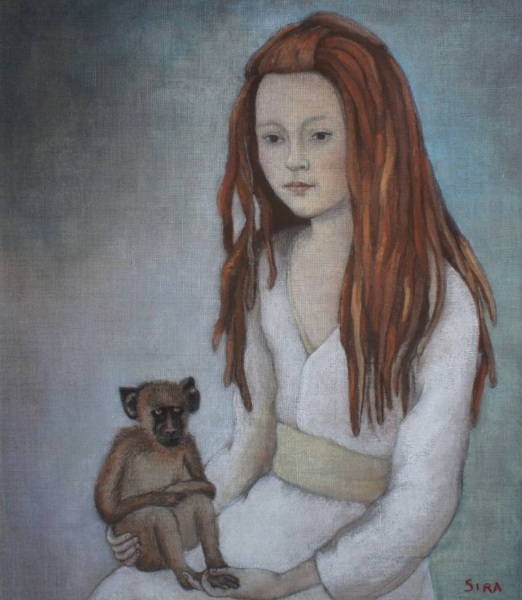 June Sira - Girl and monkey