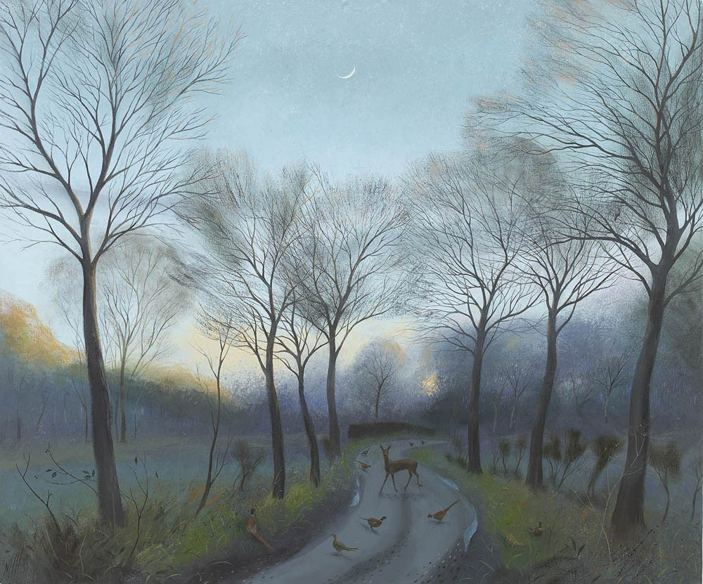 Nicholas Hely Hutchinson - A Winter Evening near Crichel