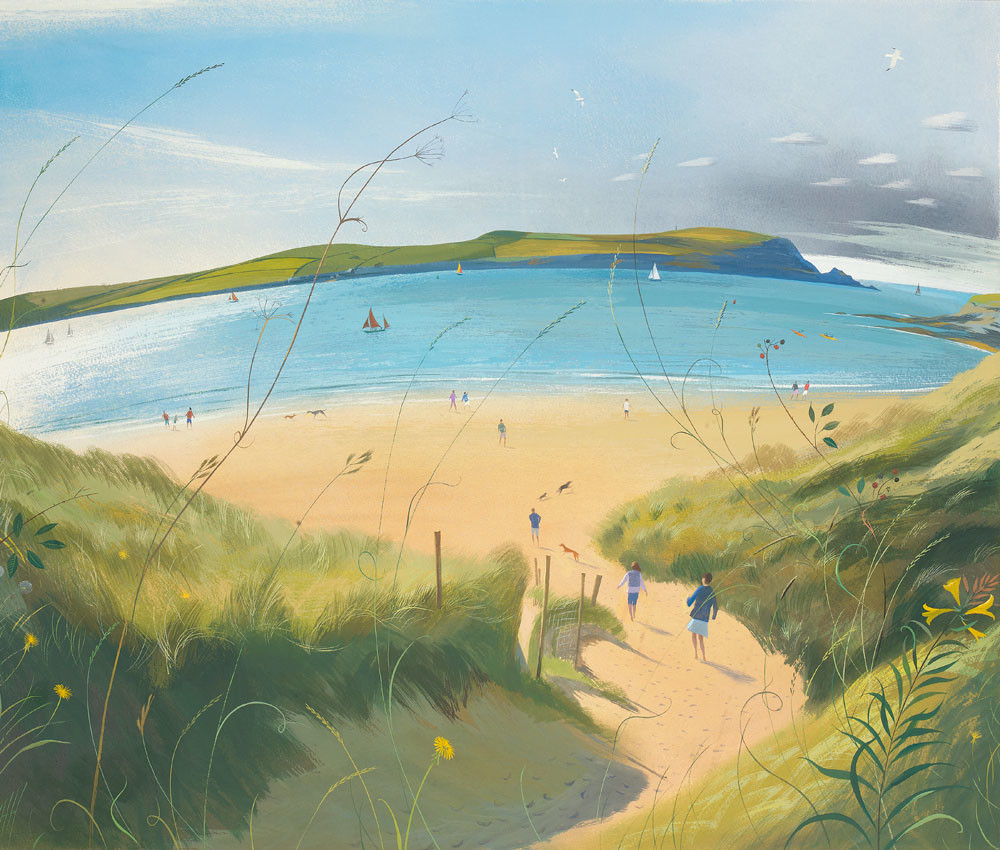 Nicholas Hely Hutchinson - Going Down to the Beach, Daymer Bay