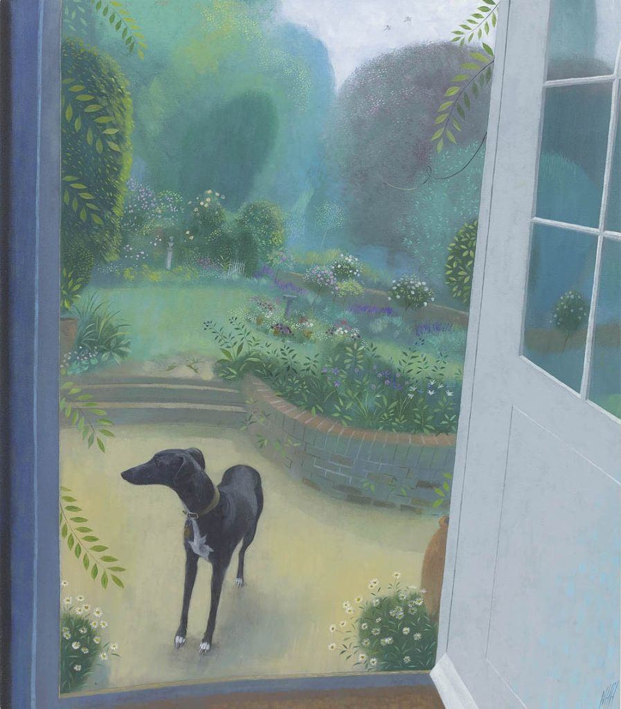Nicholas Hely Hutchinson - Miss Martha by the Garden Door