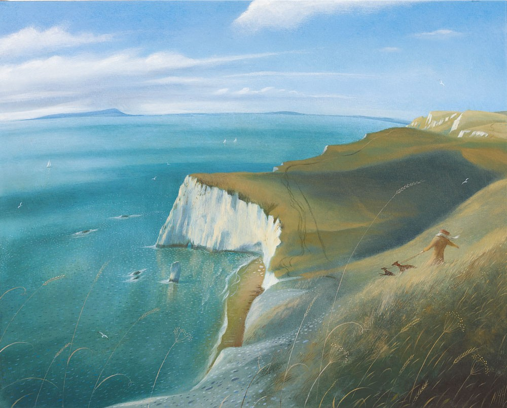 Nicholas Hely Hutchinson - On the Coast Path near Bats Head