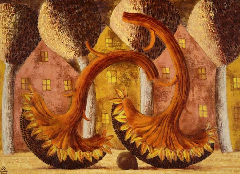 Alexander Demidov - Landscape with Sunflowers