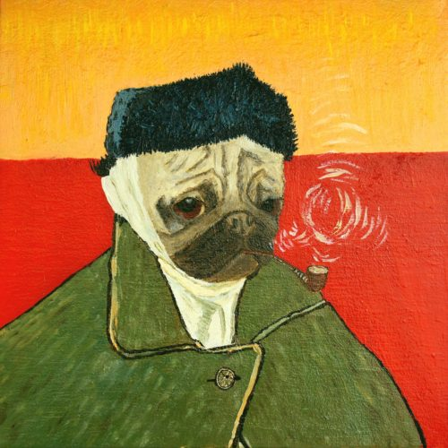 Van Pug - Self-Portrait with Bandaged Ear and Pipe