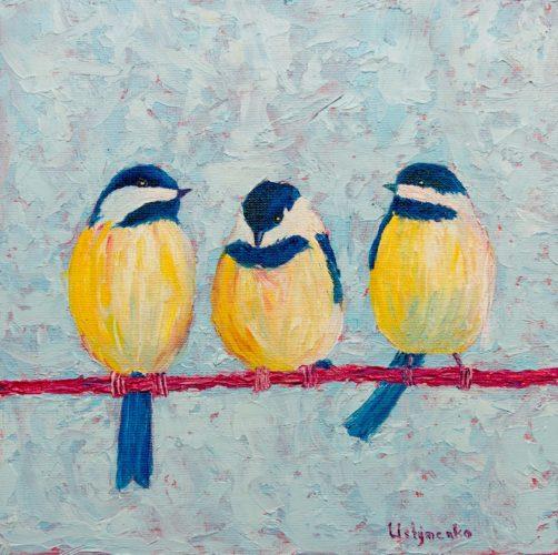 Yuliia Ustymenko - Conversations. Birds. Oil painting