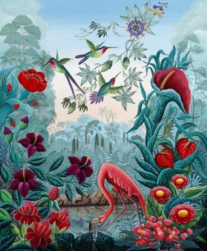 Marie Amalia Bartolini - Flamand et colibris